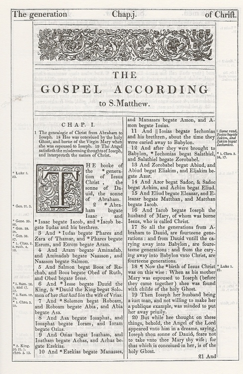 The King James Bible Main Page